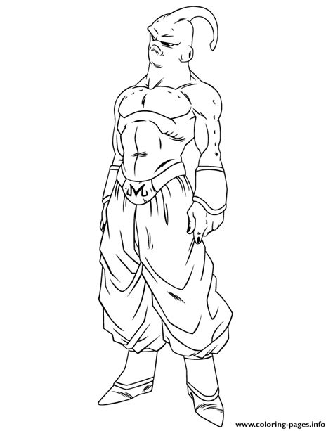dragon ball z super coloring pages dragon ball z super buu coloring page coloring pages printable