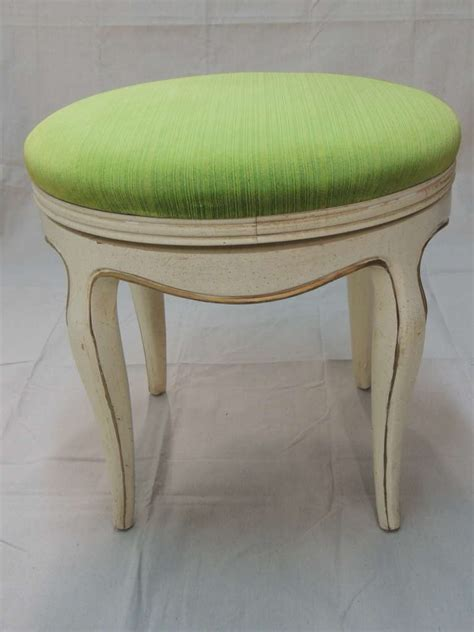 Upholstered Vanity Stools And Benches by Green Velvet Upholstered Vanity Bench At 1stdibs