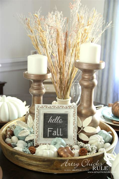 Dining Room Table Winter Centerpieces Coastal Casual Fall Tablescape On A Budget Artsy