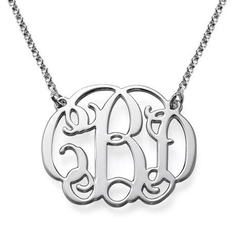 how to make monogram jewelry monogram necklace in sterling silver
