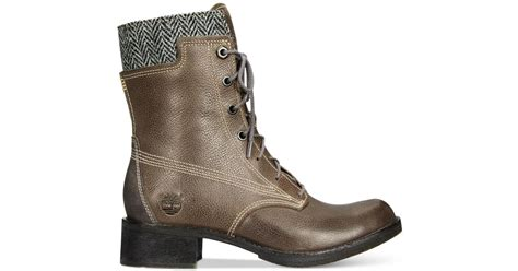 timberland s whittemore lace up boots in gray grey