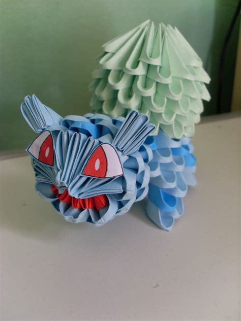How To Make Origami Bulbasaur - 3d origami bulbasaur album skong 3d origami