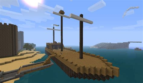 small boat on a pirate ship boat pirate ship minecraft project