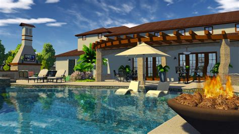 swimming pool design software 3d pool and landscaping design software features vip3d