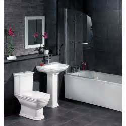 black tile bathroom ideas black bathroom ideas terrys fabrics s blog