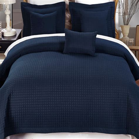 navy blue quilted coverlet 4 piece navy twin xl coverlet set free shipping