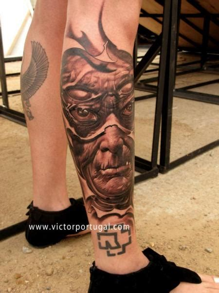 portuguese tribal tattoos leg by victor portugal