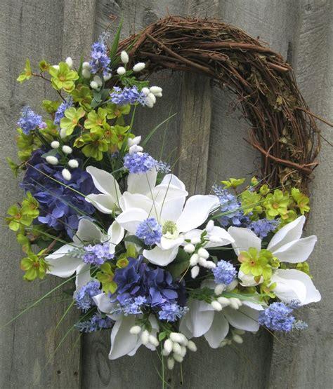 Summer Door Wreath by Floral Wreath Door Wreath Summer Wreath Wedding