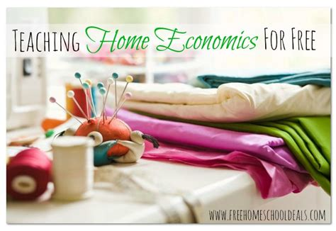 homeschooling for free and frugal teaching home economics