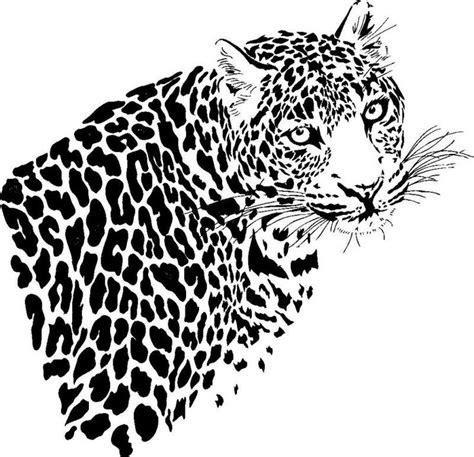 Leopard Skin Pattern Stencil Large Leopard Stencil Search Diy Snow