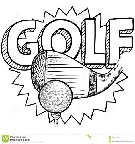 sketch book club golf sketch royalty free stock images image 28471339
