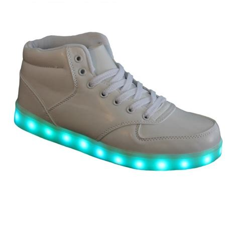 S Light Up Trainers High Top White Wholesale