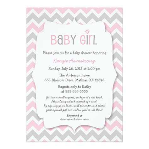 What To Bring For Baby Shower by Pink Gray Baby Shower Invites Bring A Book Zazzle