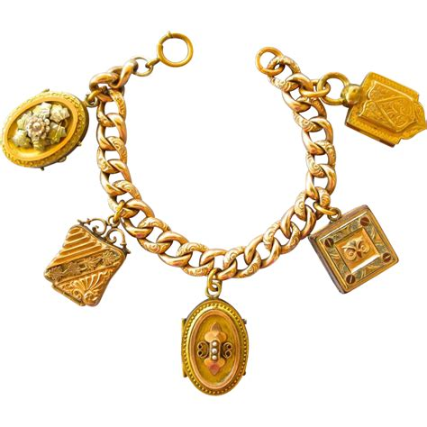 gold filled charms jewelry exquisite gold filled chunky locket fob charm