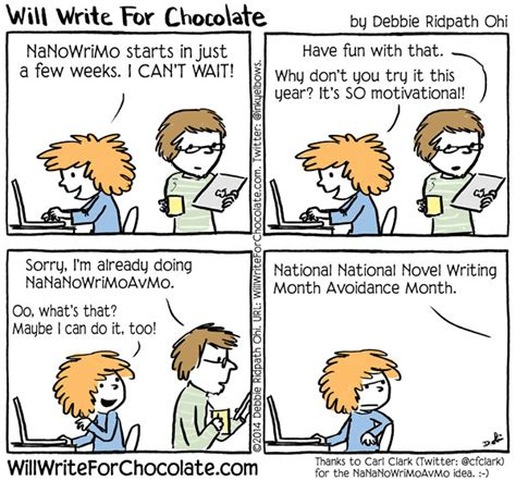 Clarks Nanowrimo by Will Write For Chocolate Via Inkyelbows