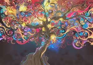 Psychedelic tree trippy me