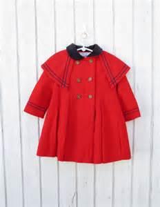 vintage children s clothes 60s s jacket red coat