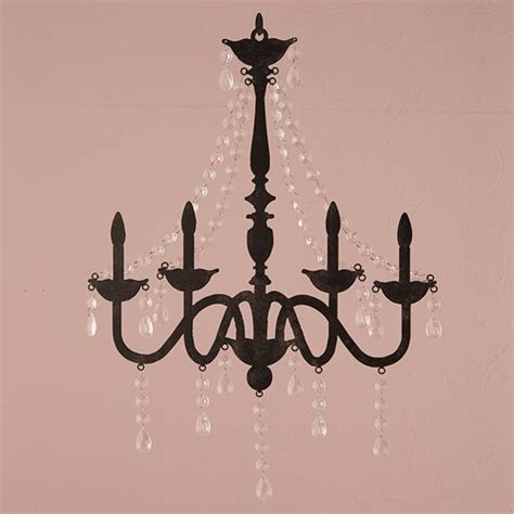 Chandelier Decoration 2 Faux Chandelier Silhouette Metal Wall Decor Acrylic Drops Wedding Ebay
