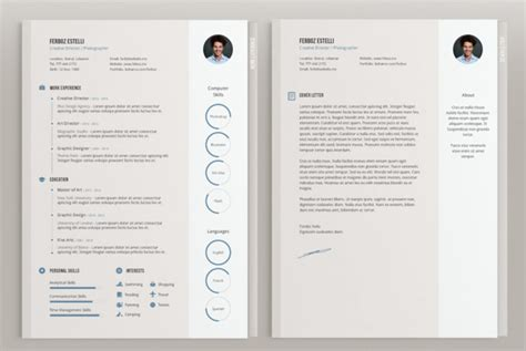 indesign resume template 20 beautiful free resume
