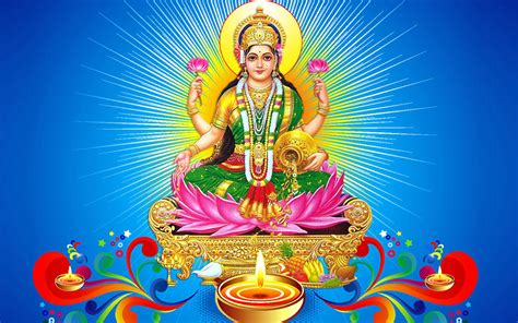 laxmi mataji dhanteras hindo lord blue background hd wallpaper  desktop