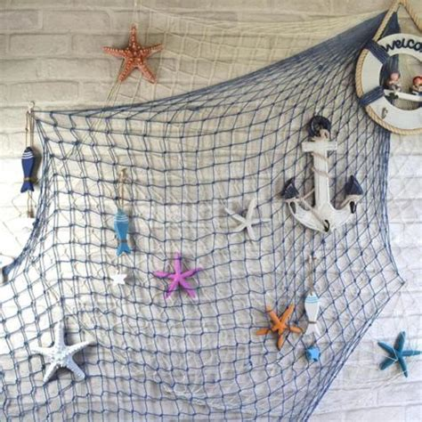 Fish Net Decoration Ideas by 1 5x2m Decorative Fish Net Nautical Photo Prop Wall
