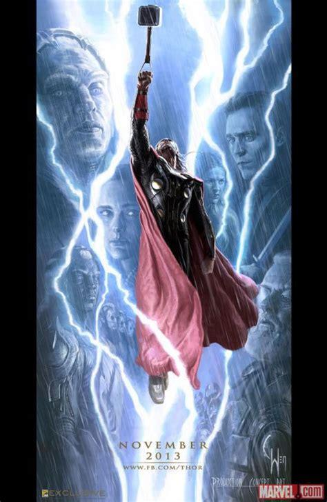 film baru thor poster baru dua film marvel diluncurkan di comic con