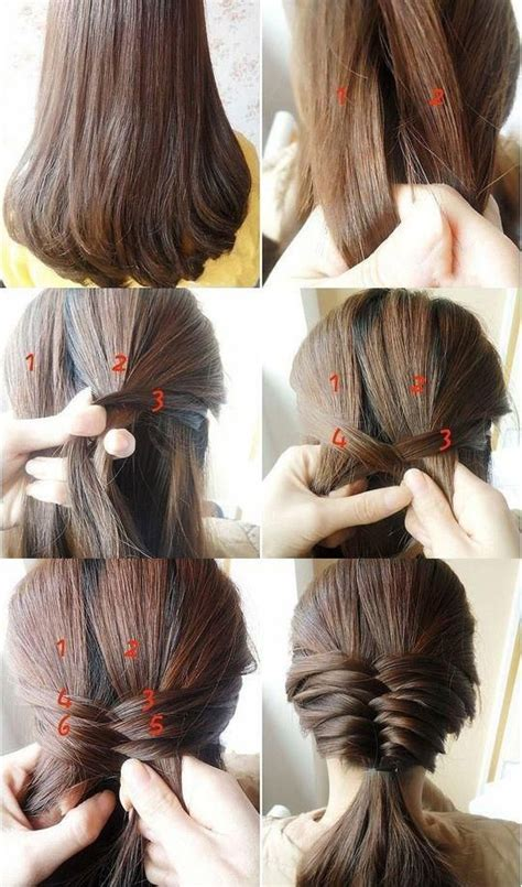 step by step hair style 15 simple step by step hairstyles
