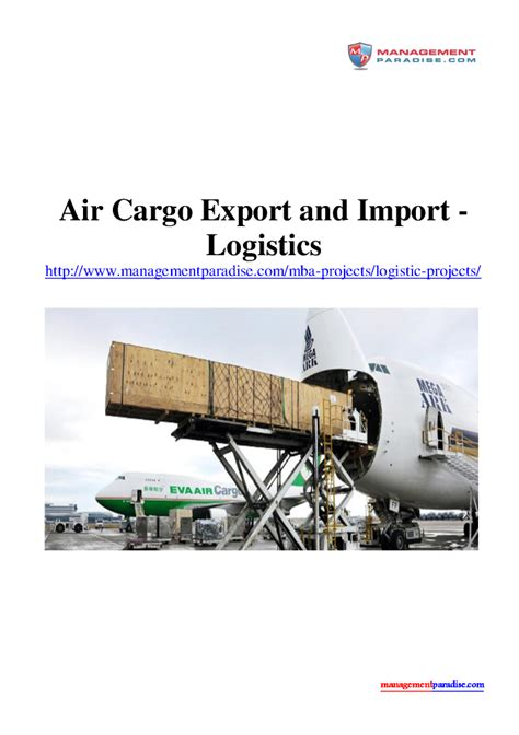 Logistics Mba Project by Air Cargo Export And Import Logistics Authorstream