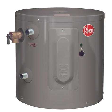 Small Water Heaters Electric Home Depot Rheem Performance 6 Gal 6 Year 2000 Watt Single Element