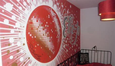 disco bedroom kids custom artwerk