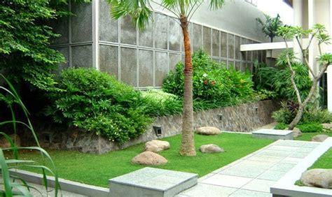 aneka gambar taman minimalis samping rumah