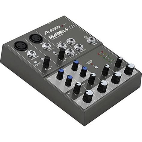 Mixer Cina 4 Channel alesis multimix 4 4 channel audio mixer with usb multimix