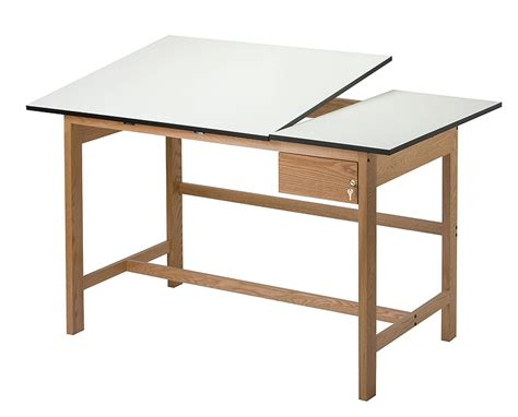 Split Drafting Table Alvin Titan Ii Split Top Oak Drafting Table 37 5 X 60 Wooden 4 Post Drawing Table