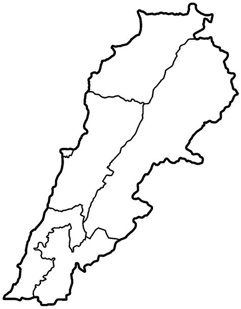 lebanon map coloring page lebanon governorates blank mapsof net