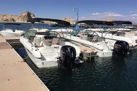 pontoon boat rentals lake powell utah 19 ft powerboat rental dreamkatchers lake powell b b