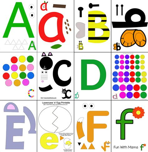 printable letters printable alphabet letter crafts fun with mama