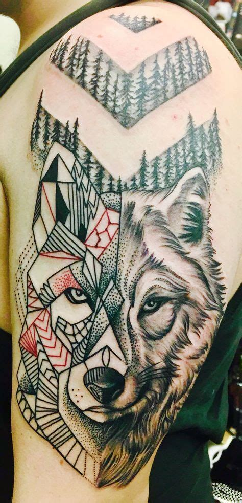 geometric tattoo pittsburgh geometric shift wolf tattoo by ty esha reels wyld chyld