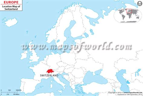 switzerland map in world map where is switzerland location of switzerland