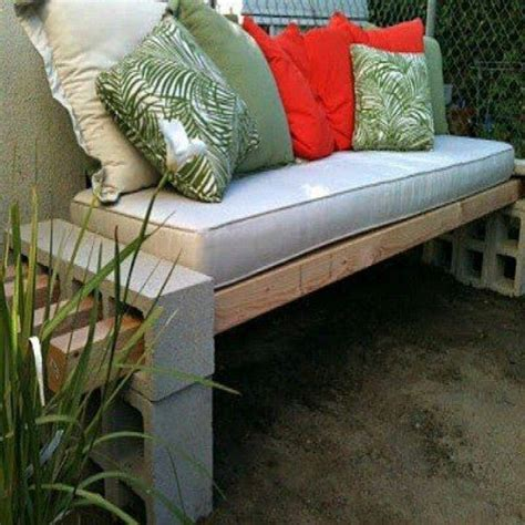 cinderblock bench cinder block garden bench the great outdoors pinterest
