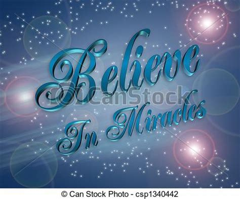 Where Can I The Miracle For Free Clip Of Believe In Miracles Illustration Artistic Illustration Csp1340442 Search