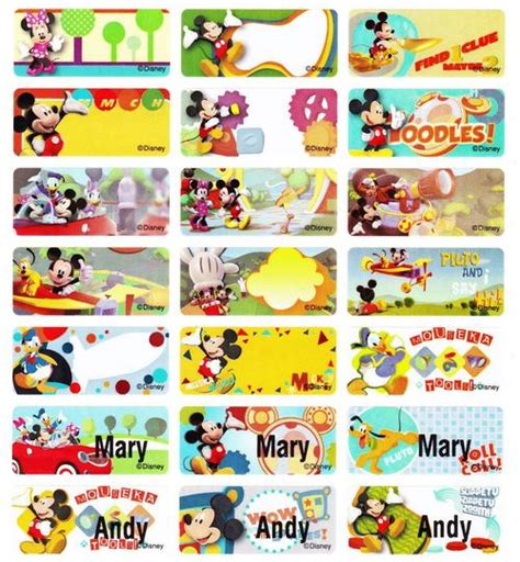 Stiker Label Nama Mickey Mouse mickey mouse in gauteng value forest