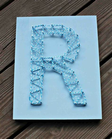 String Letters - best 25 string letters ideas on crafts
