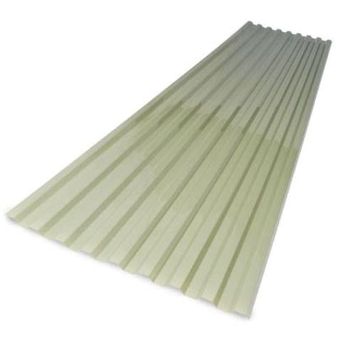 corrugated plastic home depot suntuf 26 in x 8 ft green polycarbonate corrugated