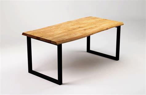 Black Wood Dining Tables R 197 Black Wood Dining Table With Live Edge Sfd Furniture