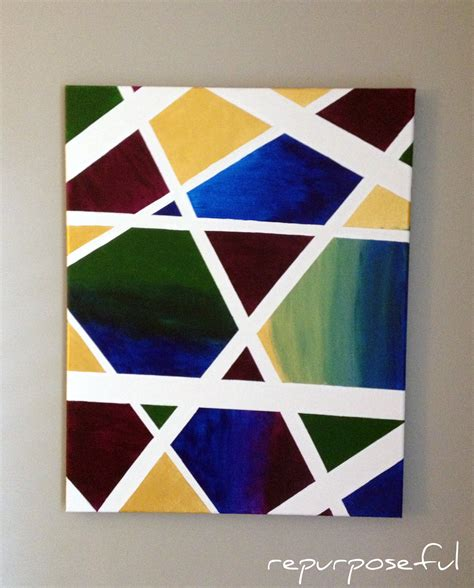 easy modern paintings easy abstract canvas diy repurposeful boutique
