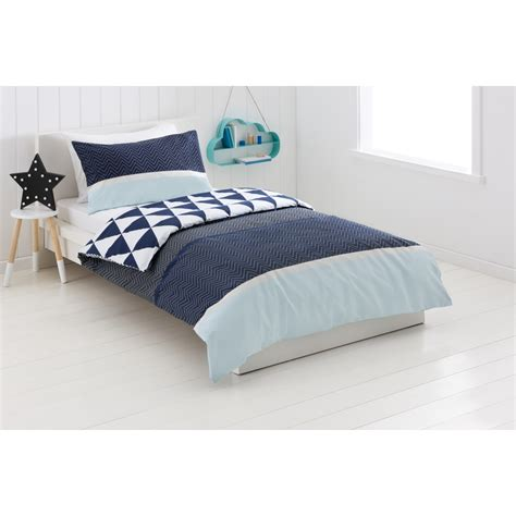 bed kmart zig zag reversible quilt cover set bed kmart
