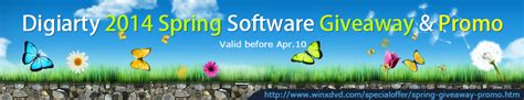 Giveaway Software 2014 - digiarty software 2014 spring giveaway promo text and images
