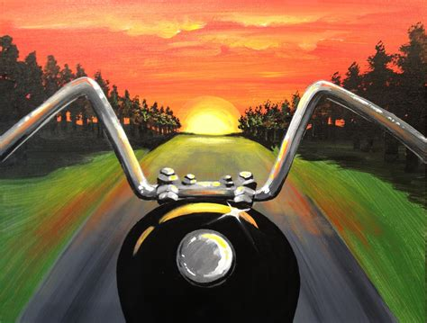 free scooter painting sunset ride pinot s palette painting
