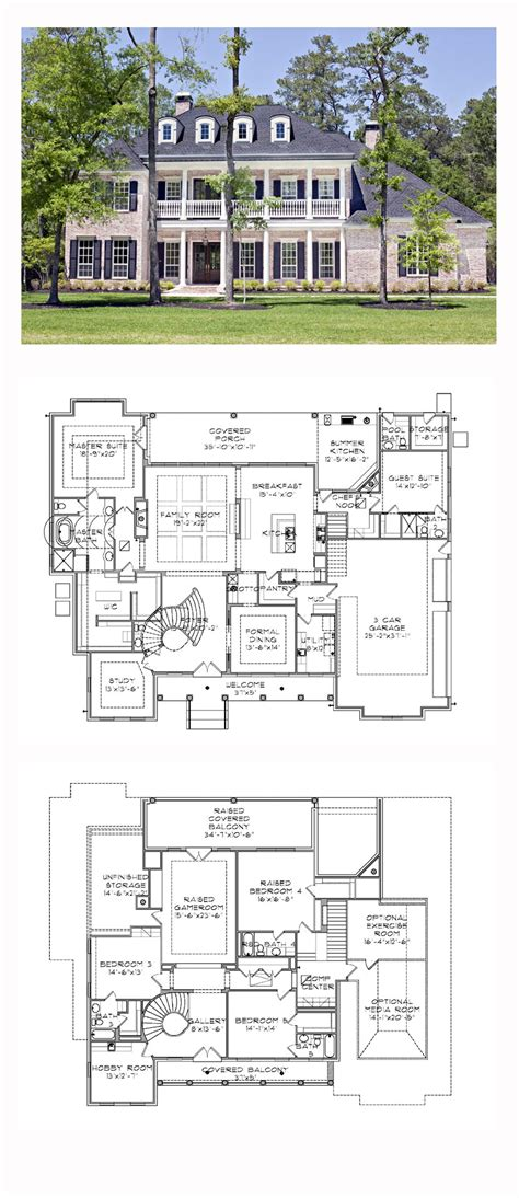 plantation house floor plans plantation house plan 77818 total living area 5120 sq ft 5 bedrooms and 5 5 bathrooms