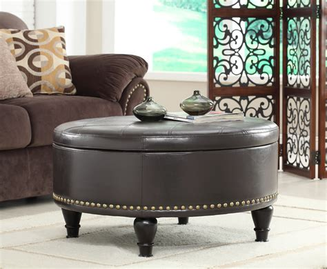 Living Room Ottoman With Storage Living Room With Large Storage Ottoman